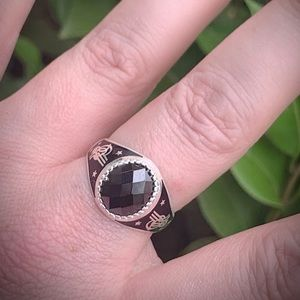 Other - FATHERS DAY Hematite 925 Solid Silver Ring Sz 11.5